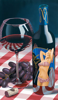 marylyn monroe wine label art
